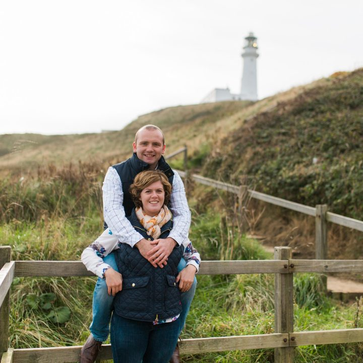 Flamborough Cliff Engagement Shoot/Flamborough//Nicola and Adam