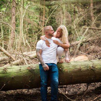 Scarborough Engagement Shoot/ Raincliffe Woods//Katie and David