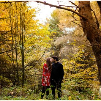Scarborough Engagement Shoot/Raincliffe woods//Kirstie and Mladen